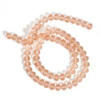 "72 Round Pink Crystal Faceted Beads10mm( 3/8"") Dia, Hole: Approx 1.6mm"